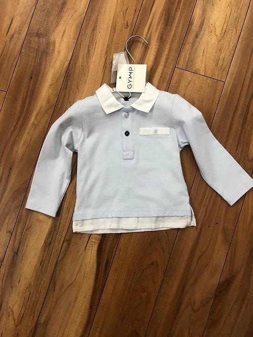 GYMP - Sky Blue & White Polo Shirt