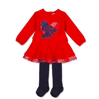 Agatha Ruiz de la Prada Escocés arp - Red Dress & Tights