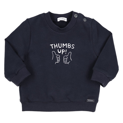 GYMP -  Navy Thumbs Up Sweater