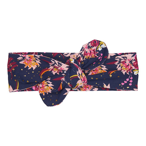 Happy Calegi - Navy Floral Print Headband