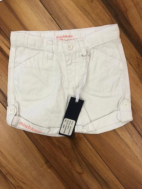 Mitch & Son White & Coral Shorts