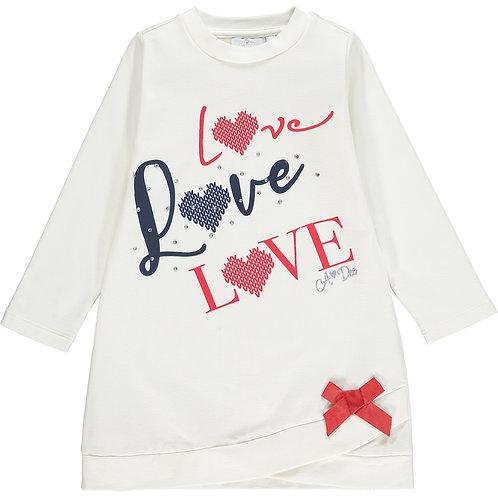 A Dee - Regina White Love Sweat Dress