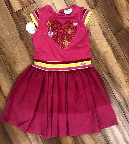 A Dee Pink Heart Dress