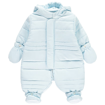 Nelson - Microfibre Pramsuit with hood, Mitts & Bootees