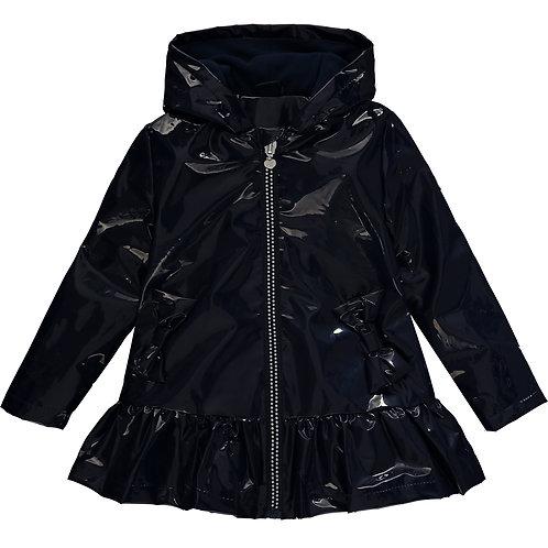 A Dee - Scarlett Frill Navy Raincoat