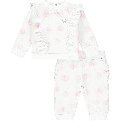 Little A - Jaqueline Flamingo Print Tracksuit