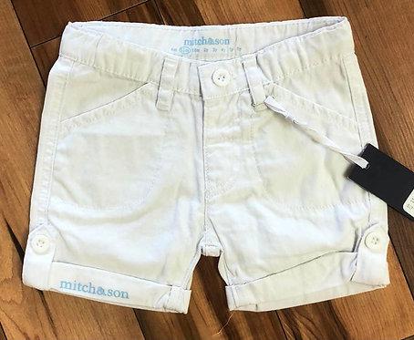 Mitch & Son White & Blue Shorts