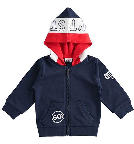iDO - Navy Open Long Sleeved Sweater