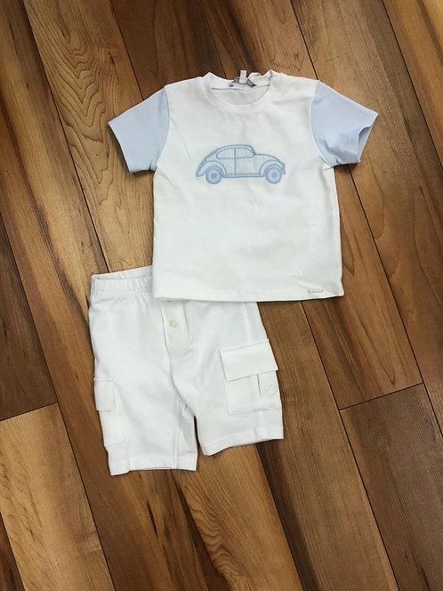 GYMP - White Car T-Shirt & White Shorts