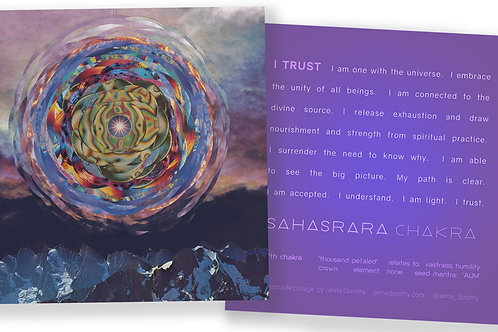 Crown Chakra Affirmation Card