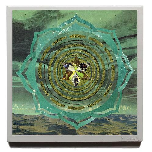 Heart Chakra resin 10 x 10