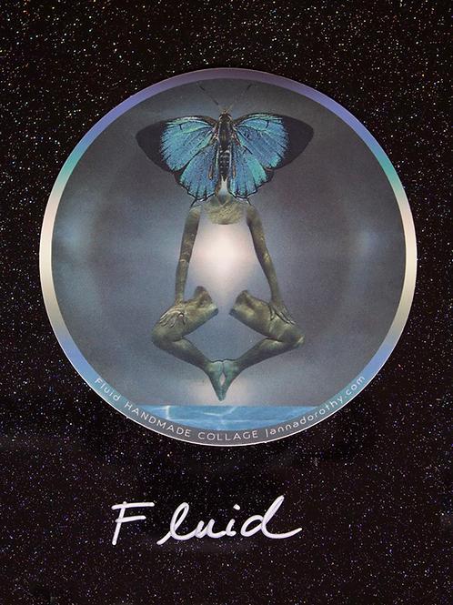 'Fluid' vinyl sticker