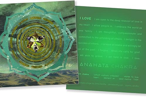 Heart Chakra Affirmation Card