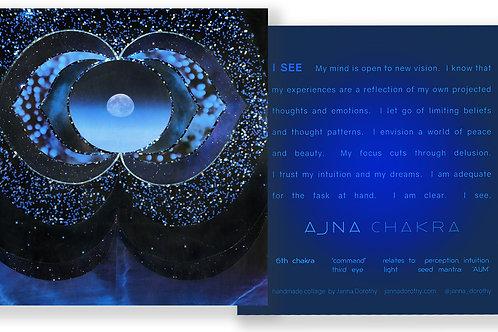 Third Eye Chakra Affirmation Card