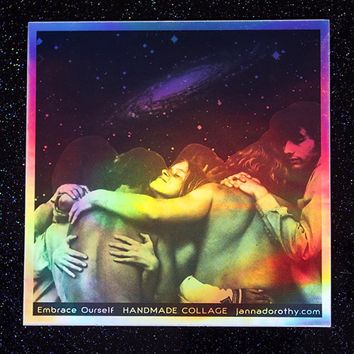 holographic embrace sticker
