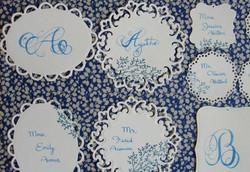 alphabet & seating cards