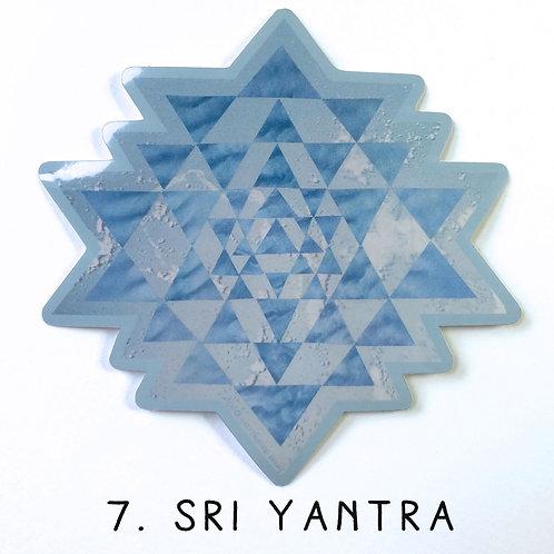 'Sri Yantra' vinyl sticker