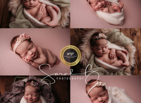 Little Miss Smiley. Brisbane Newborn baby smile photographer,