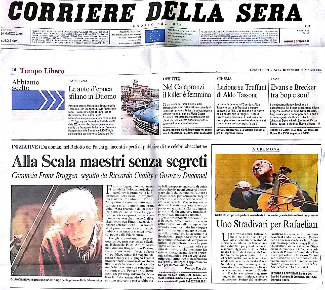 In Corriere della Sera 2006/03