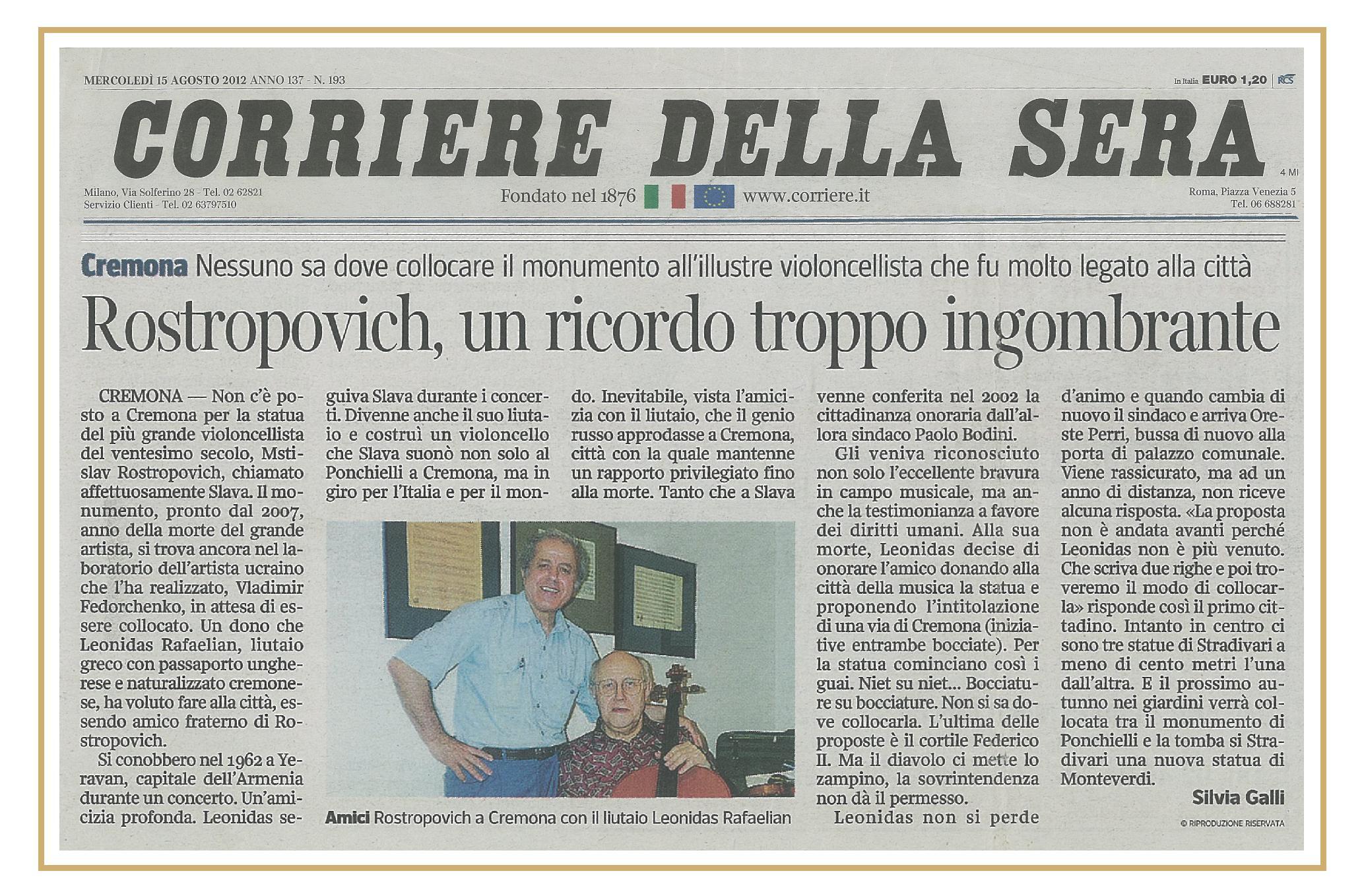 In Corriere della Sera 2012/08
