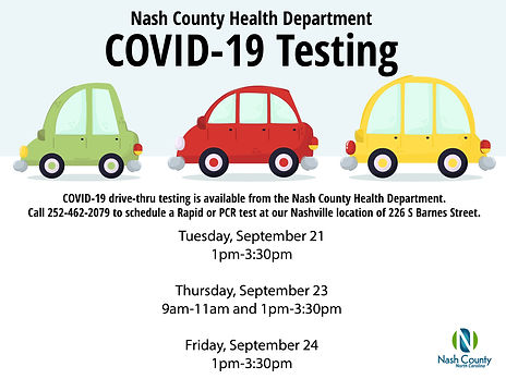 Nash County Health Department Drive Thru Testing 9-20.jpg