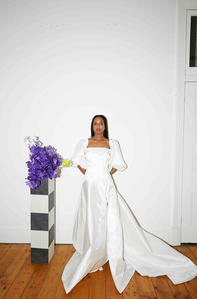Harriette Gordon Lantern Gown in Ivory