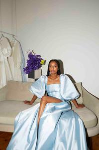 Harriette Gordon Lantern Gown in Powder Blue