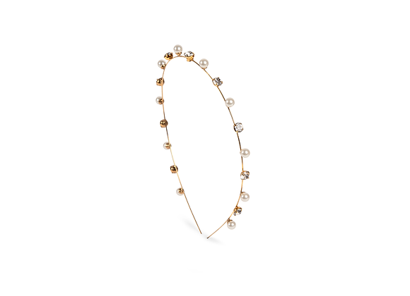 Ines Crystal Pearl Headband by Jennifer Behr