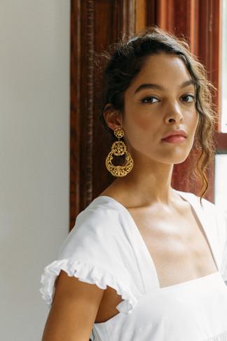 Shanna Gold Earrings by Jennifer Behr