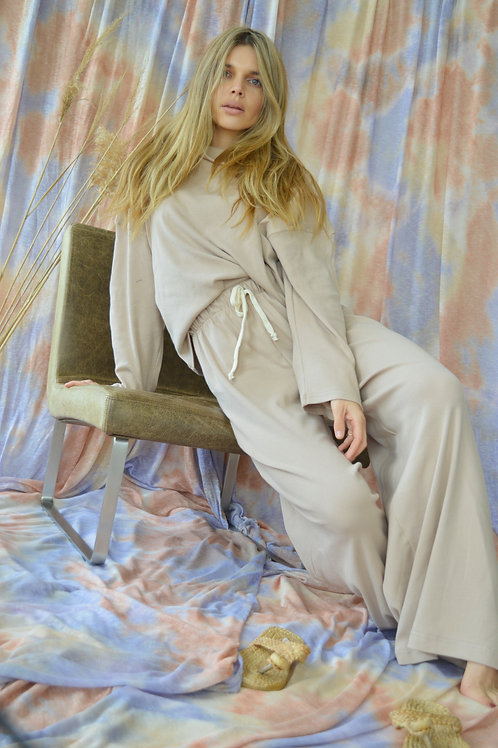 Giselle Knit Flare Pants Beige