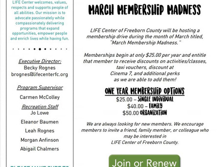 February & March Newsletter