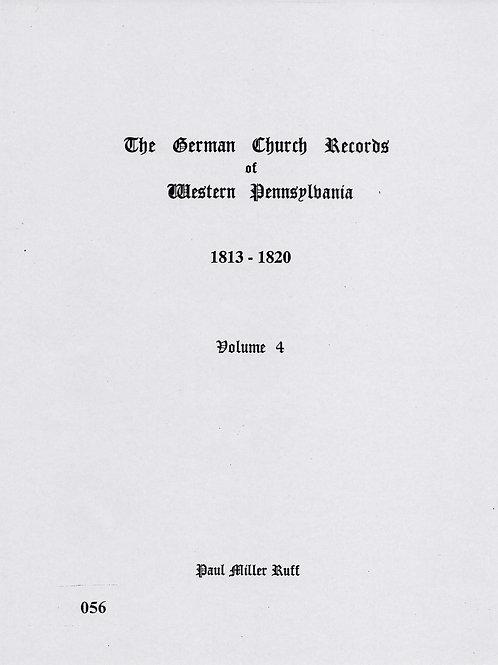 056 -German Church Records Vol. 4, 1813-1820