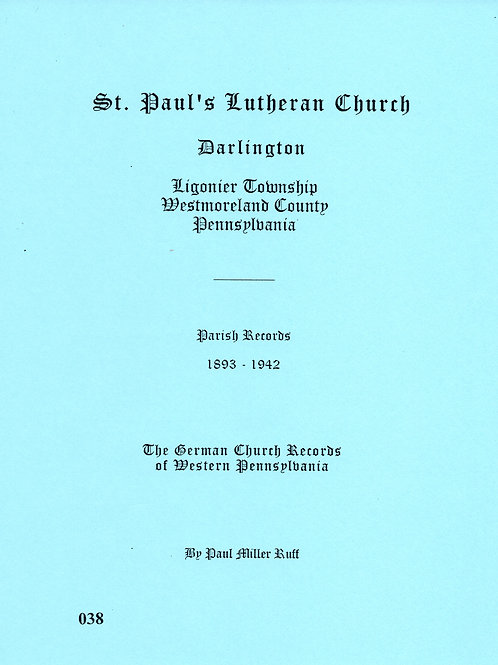 038 -St. Paul's Lutheran Church, Darlington, 1893-1942