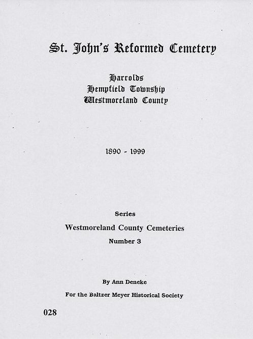 028 -St. John's Reformed Cemetery, 1890-1999