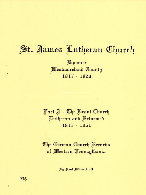 036 -St. James Lutheran, Part 1, 1817-1851