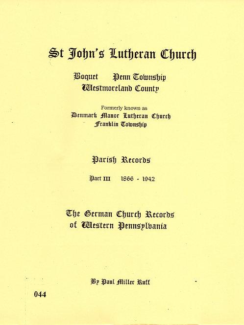 044 -St. John's Lutheran Church, Part 3, 1866-1942