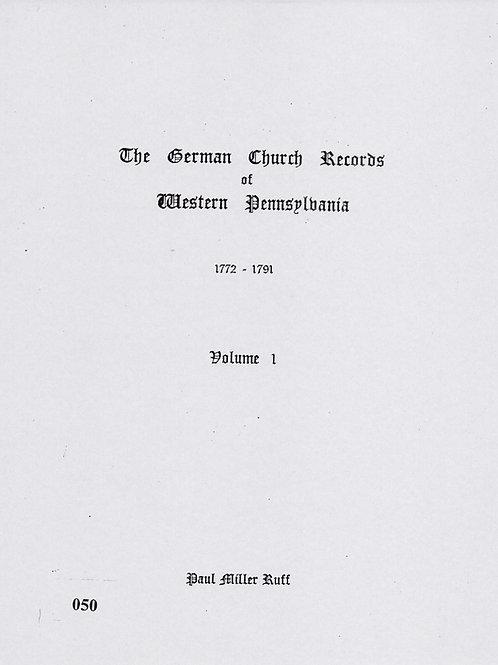 050 -German Church Records Vol. 1, 1772-1791