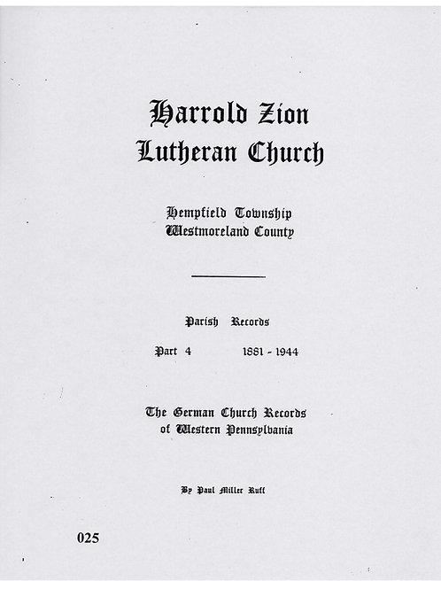 025 -Harrold Zion Lutheran-Part 4, 1881-1944