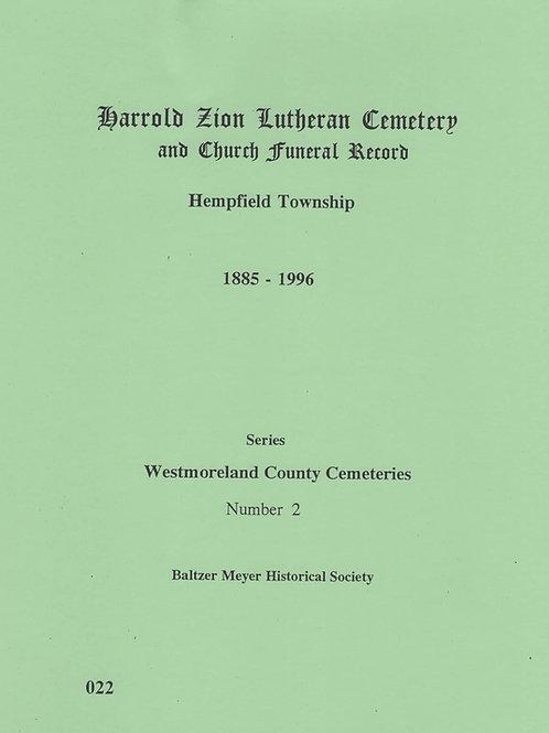 022 -Harold Zion Lutheran Cemetery