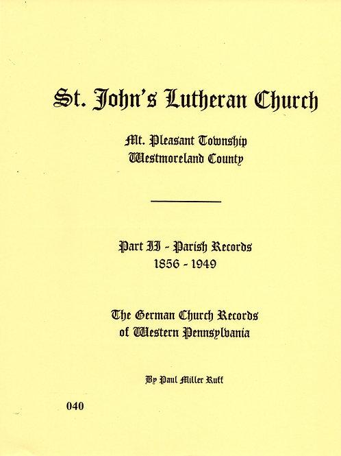 040 -St. John's Lutheran, Part 2, 1856-1949