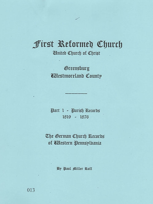 013 -First Reformed Church (UCC) part 1