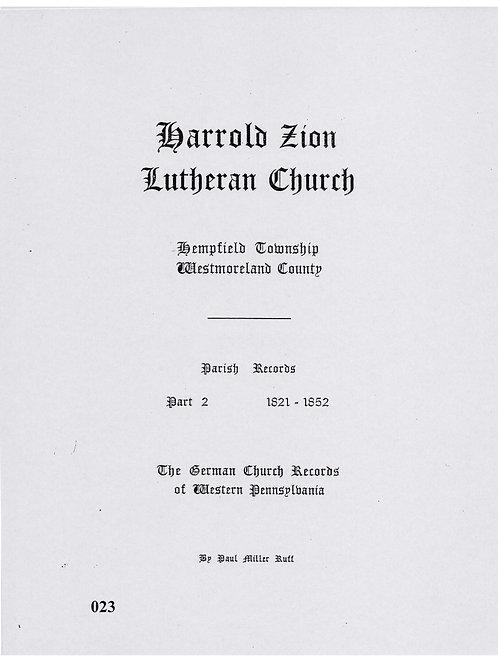 023 -Harrold Zion Lutheran-Part 2, 1821-1852