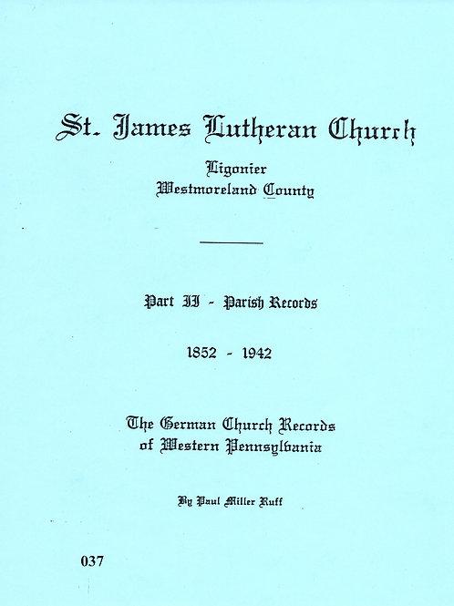 037 -St. James Lutheran, Part 2, 1852-1942