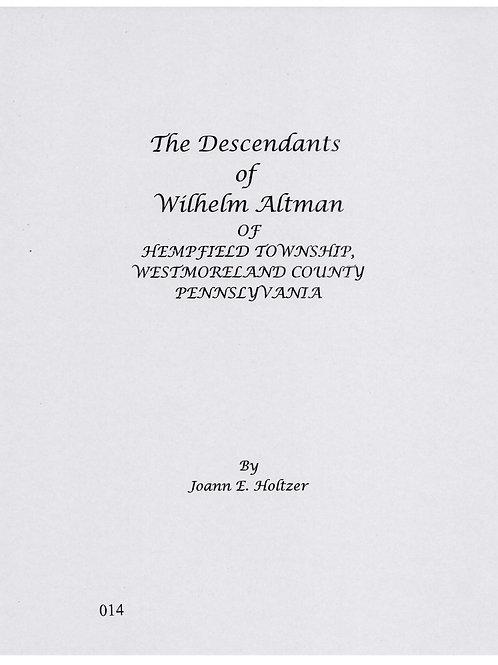014 -Descendants of Wilhelm Altman