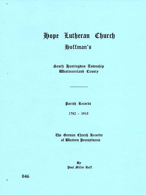 046 -Hope Hoffman's Lutheran Church, 1782-1915