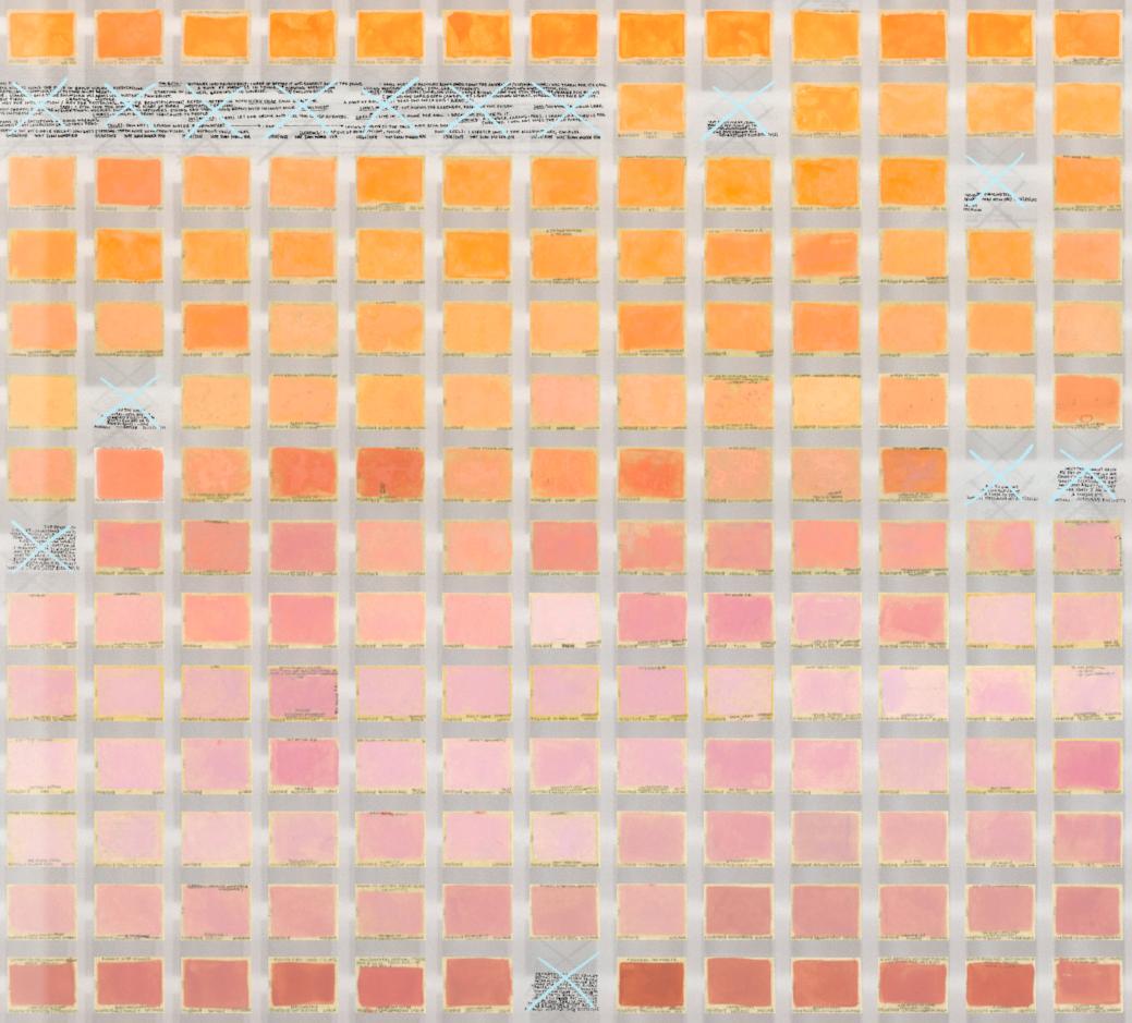 Resolution: 365 Days (Florescent Golden Orange - Titanium White + Primary Red - Ercolano Red)