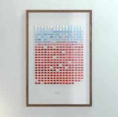Resolution: 365 Days (Titanium White + Ultramarine - Alizarin Crimson, Dark)