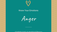 Let's Talk About Anger...A Natural Part Of Grief