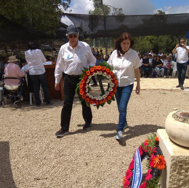 Laying a wreath at the Machal Memorial for the oversees volunteers who fought and fell in Israel's war of independence - it was an honor to meet with people who fought in1948.