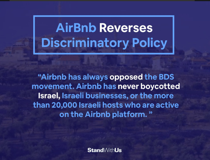 ADL, Other Jewish Groups Applaud Airbnb for Changing Its Policy